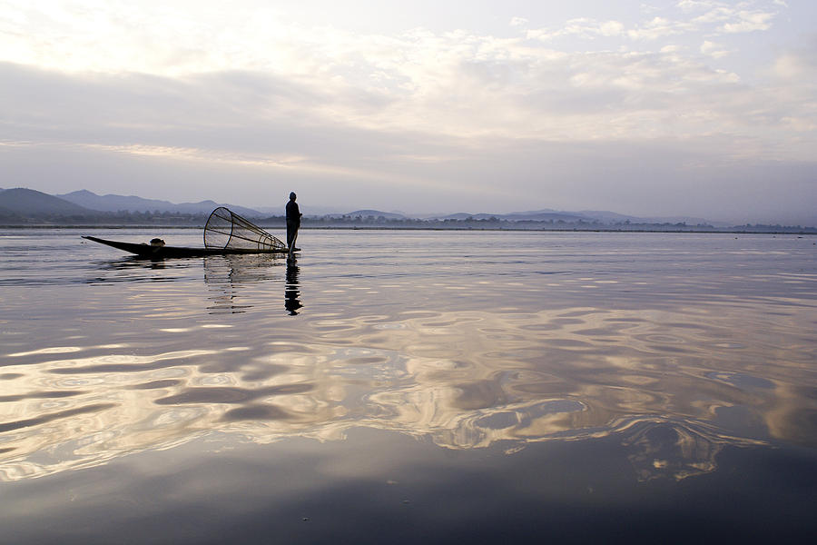 Sunrise Photograph - Dawn On Inle Lake by Michele Burgess