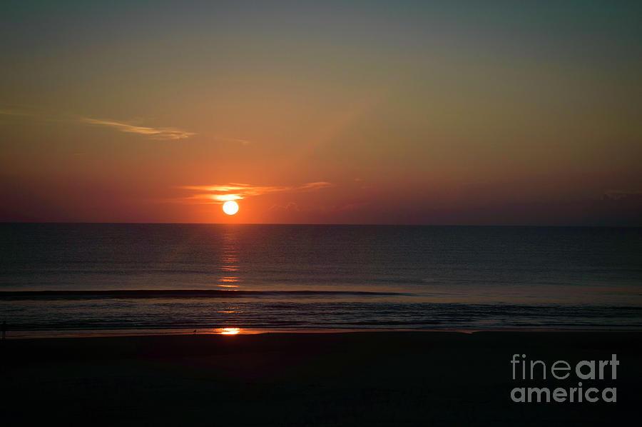Sunrise Photograph - Daytona Sunrise by Judy Hall-Folde