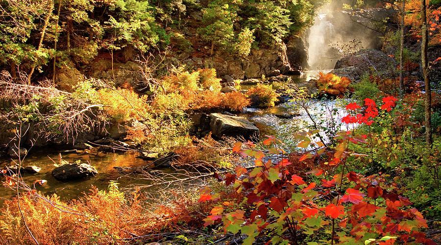 Fall Photograph - Dead River Falls  Marquette Michigan by Michael Bessler