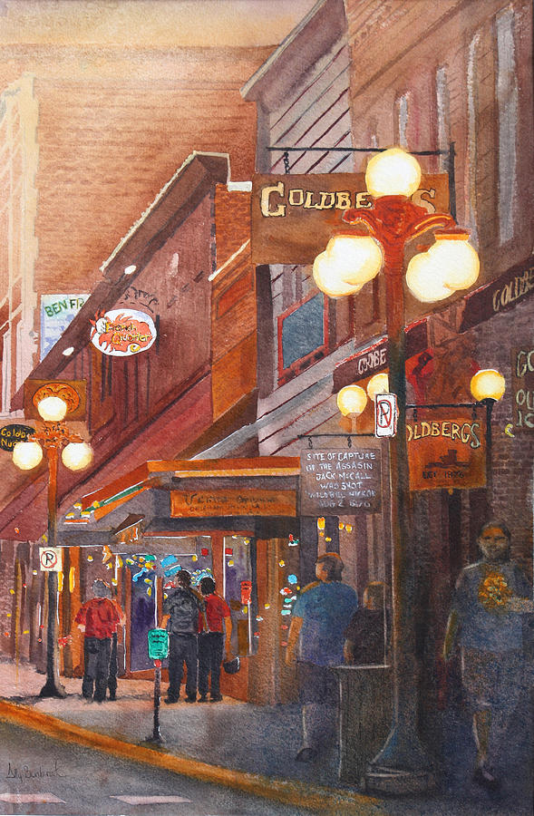 Deadwood Painting - Deadwood Nights by Ally Benbrook