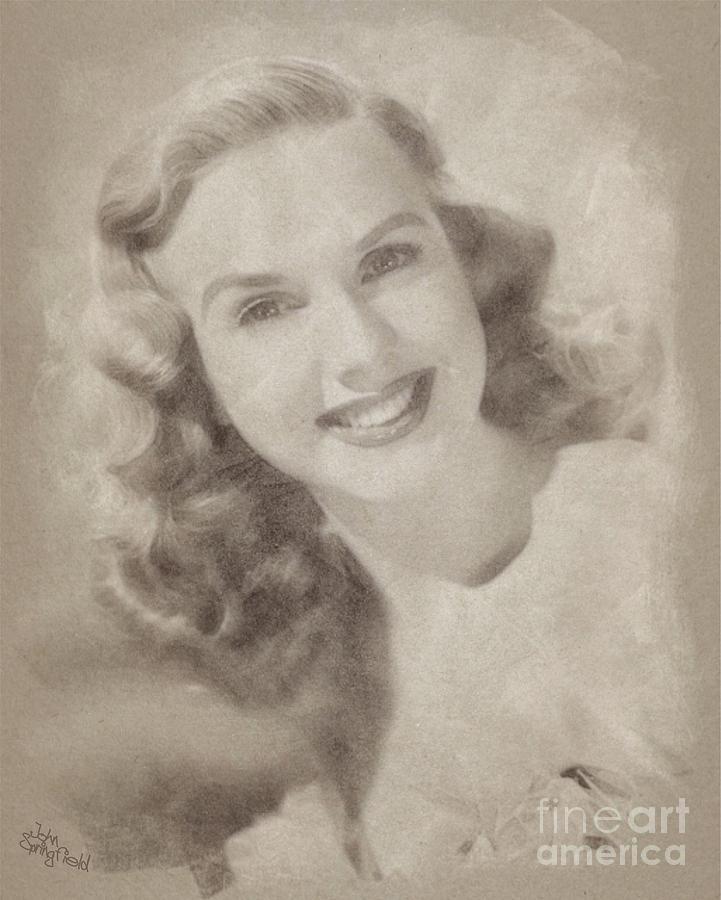Deanna Durbin, Actress Drawing