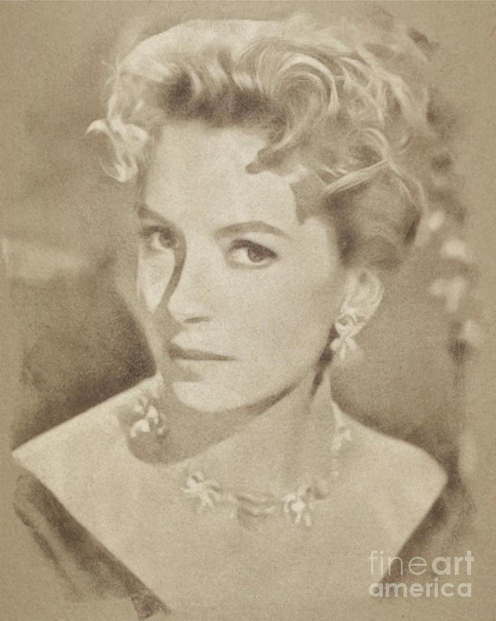 Deborah Kerr, Vintage Hollywood Actress Drawing