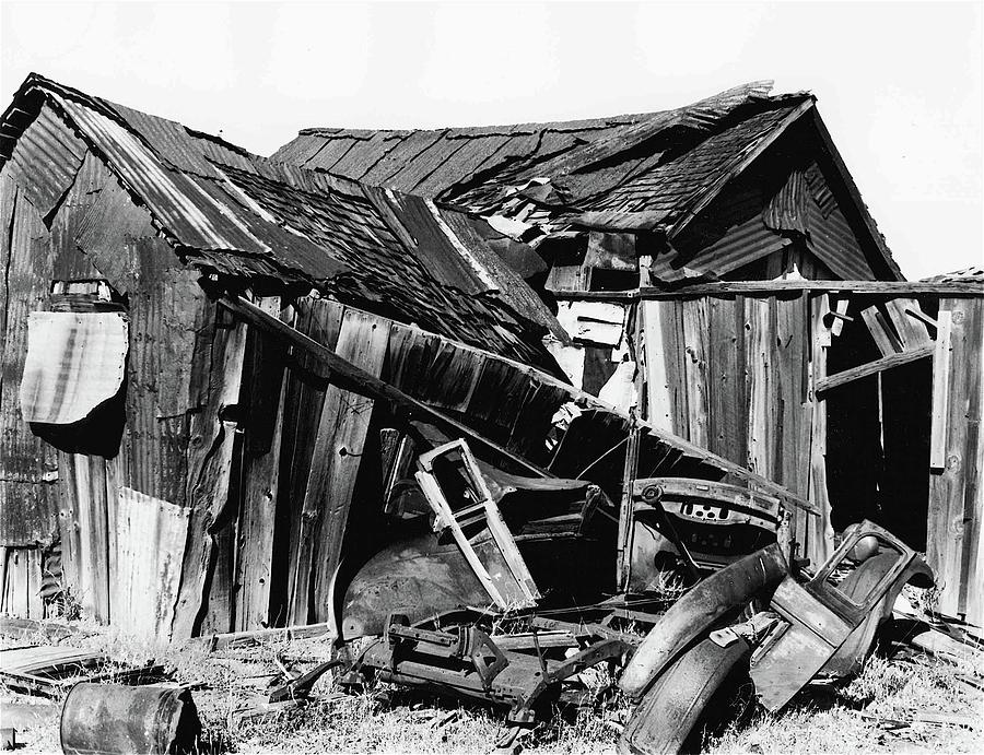 Decaying House Car Ghost Town Pearce Arizona 1968 Photograph by David Lee Guss