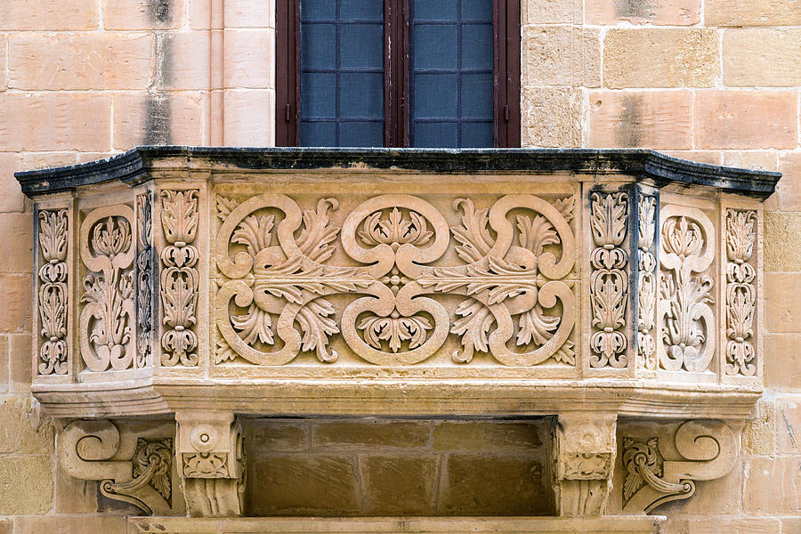 Balcony In Marble Wall : Decorative stone balcony photograph by focus fotos