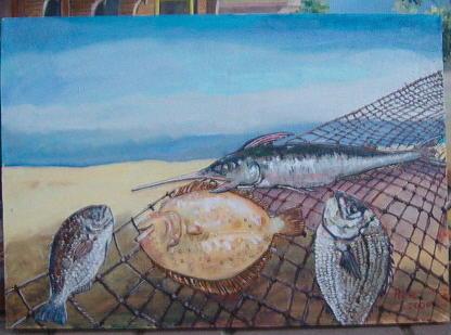 Sea Painting - Deep Of The Sea by Fahrettin  Oktay