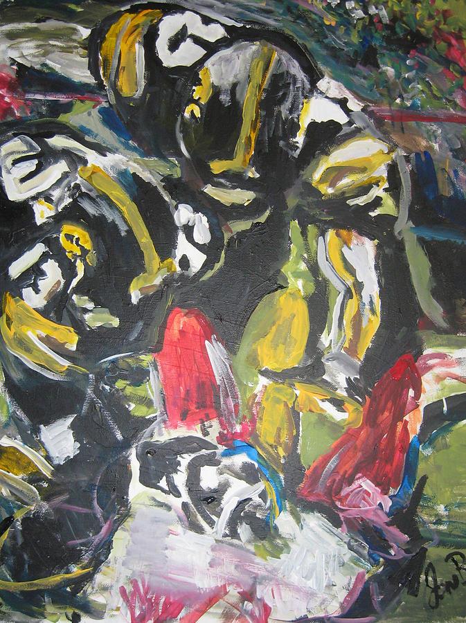 Hawkeyes Painting - Defense Depiction Number One  by Jon Baldwin  Art