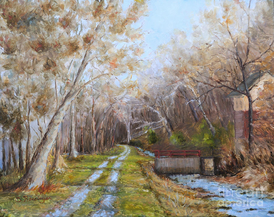 Delaware Canal Painting - Delaware Canal II by Paint Box Studio
