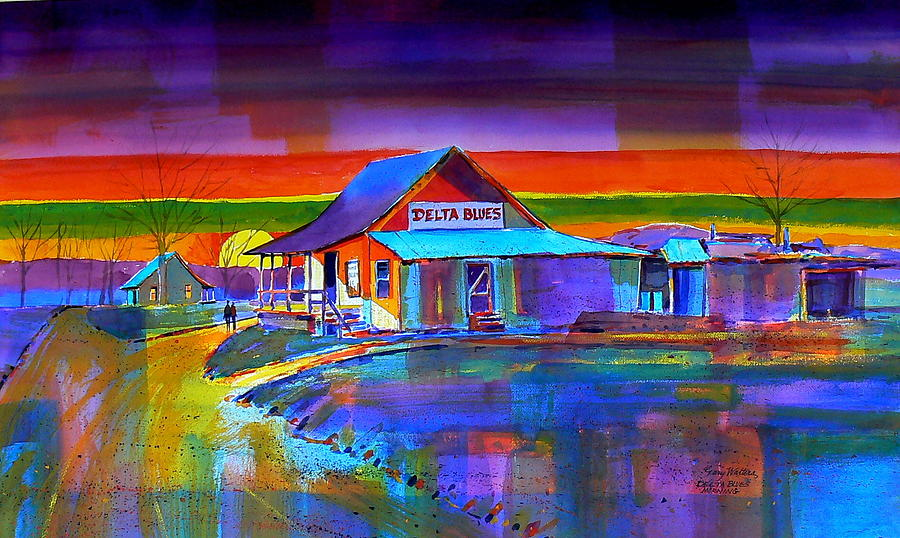 Delta Blues Painting by Gary Walters