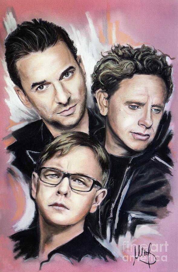 Depeche Mode Mixed Media - Depeche Mode by Melanie D