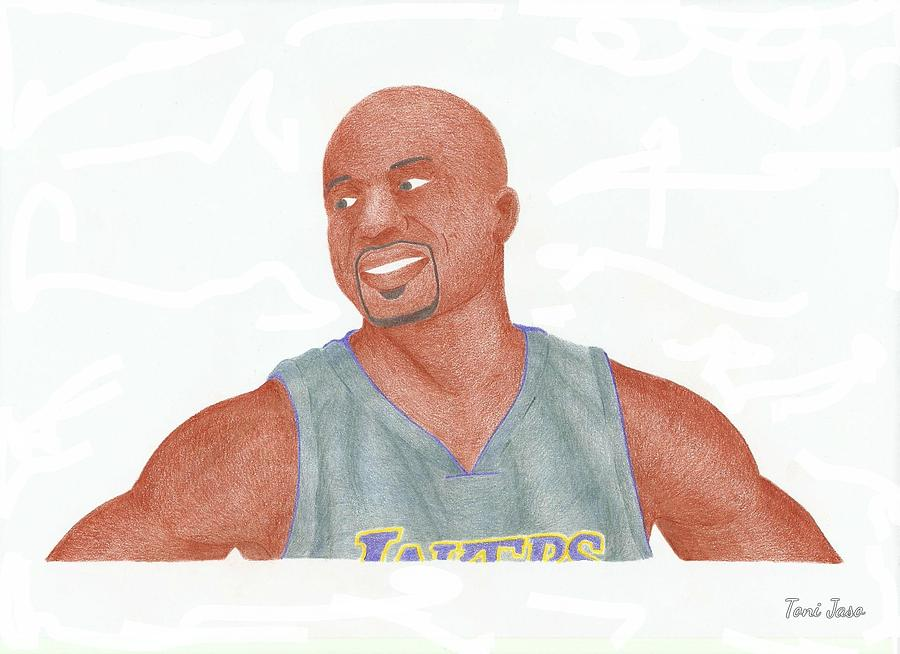 Derek Fisher Drawing - Derek Fisher by Toni Jaso