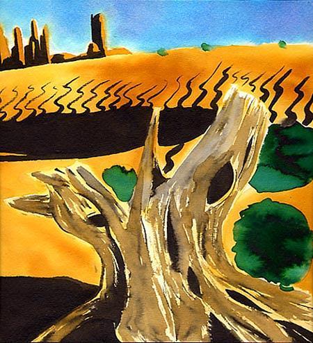 Kid Painting - Desert by Fabio Segatori