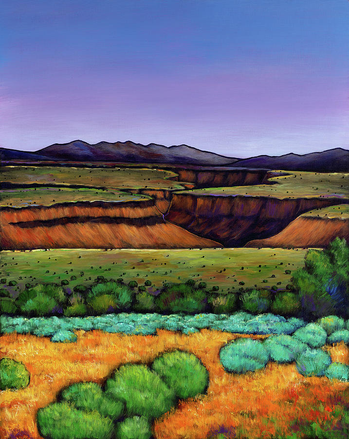 New Mexico Painting - Desert Gorge by Johnathan Harris