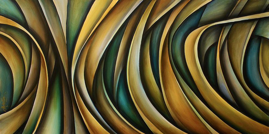 Abstract Painting - Design 1 by Michael Lang
