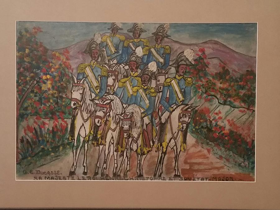 Le Roi Christophe Et Son Etat Major Painting