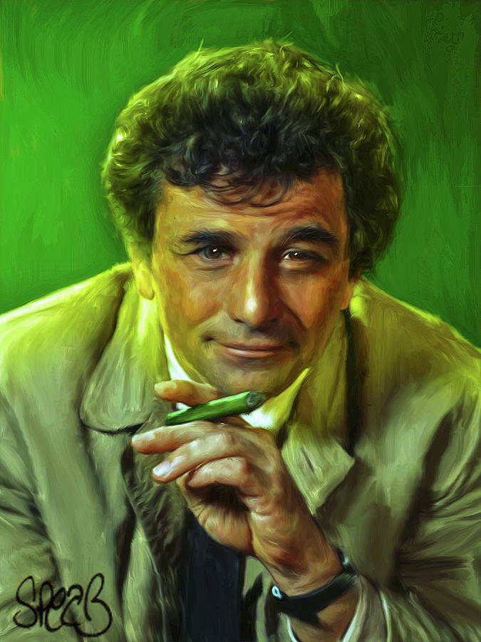 Tv Show Mixed Media - Detective Columbo - Just One More Thing by Mark Spears