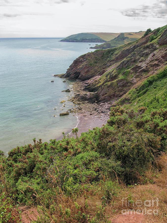Devon Photograph - Devon Coastal View by Patricia Hofmeester