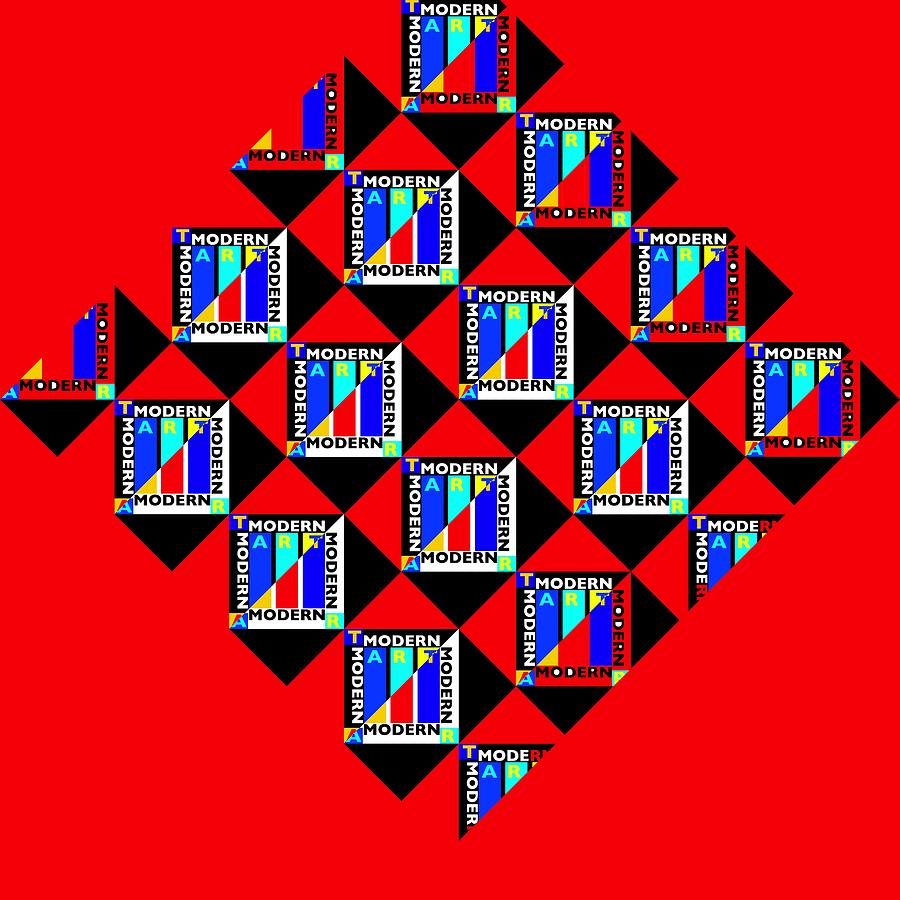 Primary Colors Painting - Diamond Red by Charles Stuart