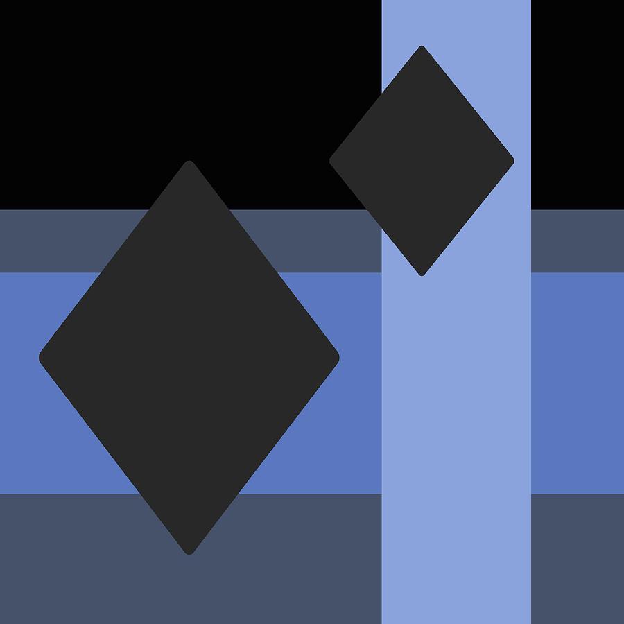 Diamonds Geometric Digital Art