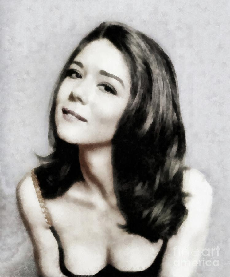 Diana Rigg, Actress Painting by John Springfield