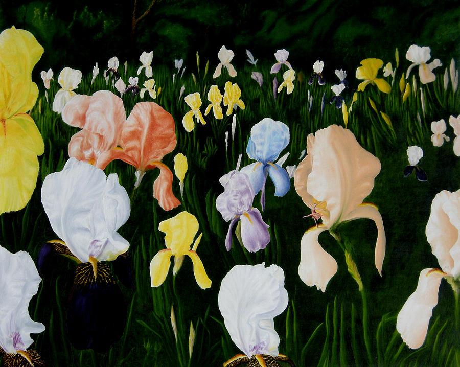 Dianes Irises Painting by Ivan Rijhoff