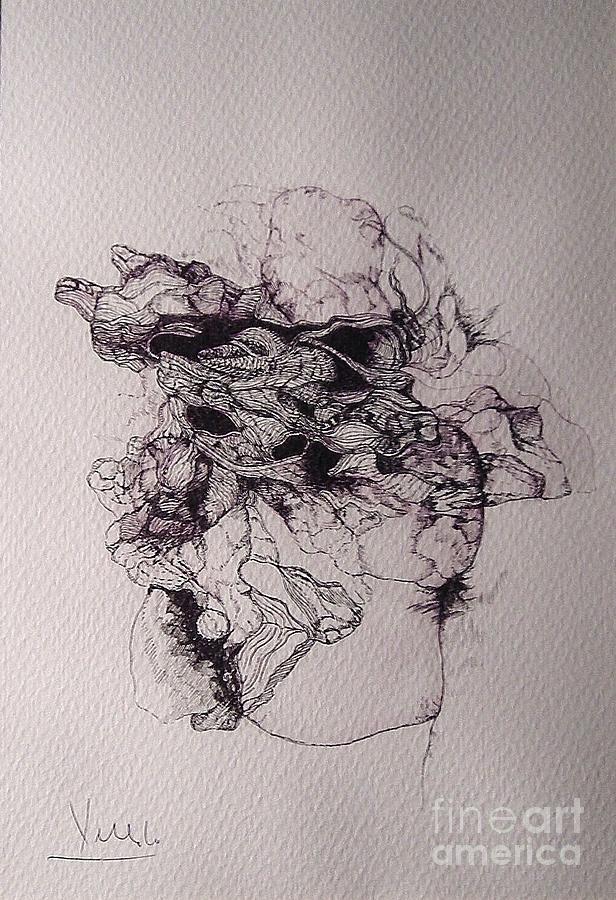 Dibujo Drawing - Dibujo by Cesar Velasco