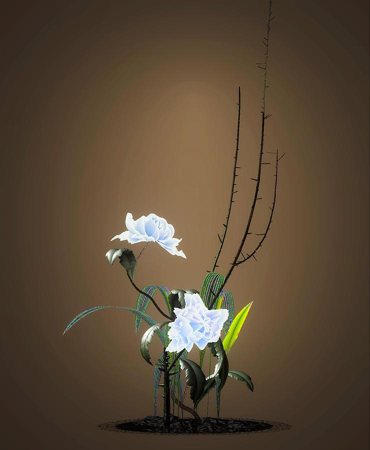 Digital Flower Arrangement Digital Art by GuoJun Pan