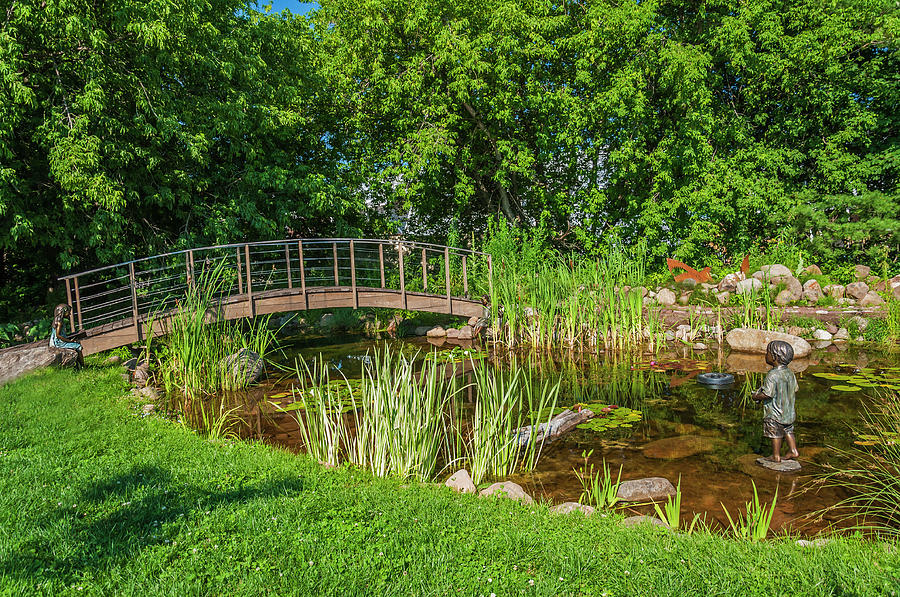 Bayfield Photograph - Dobson Flower Garden by Lonnie Paulson
