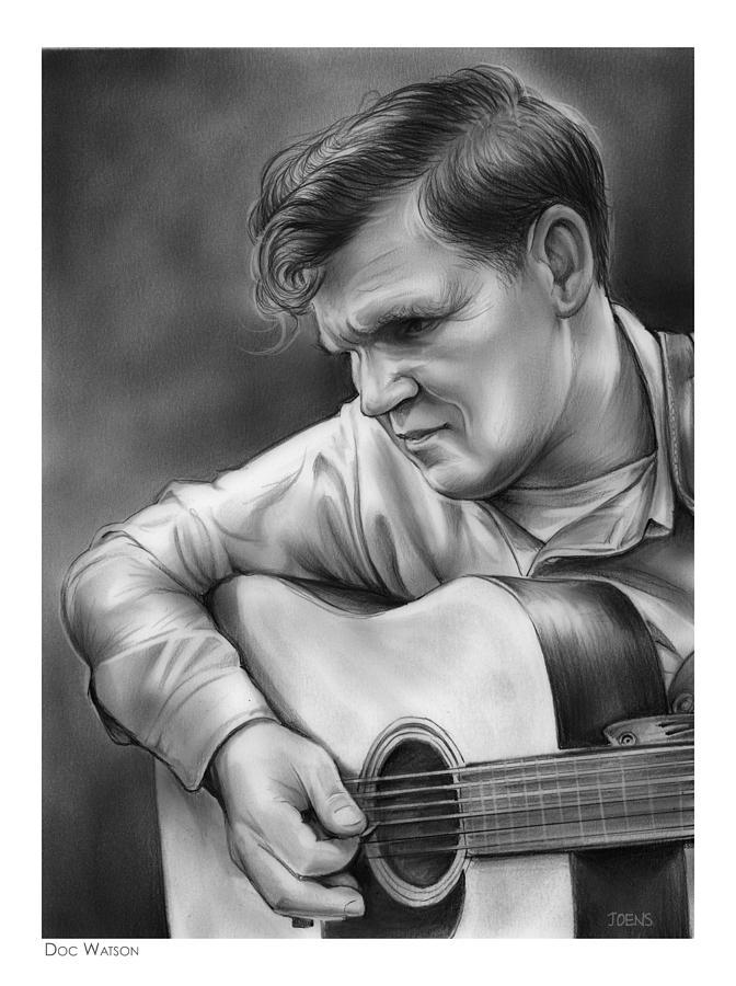 Doc Watson Drawing