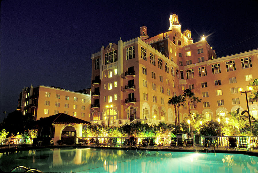 Hotel Photograph - Don Cesar Beach Resort Hotel by Carl Purcell