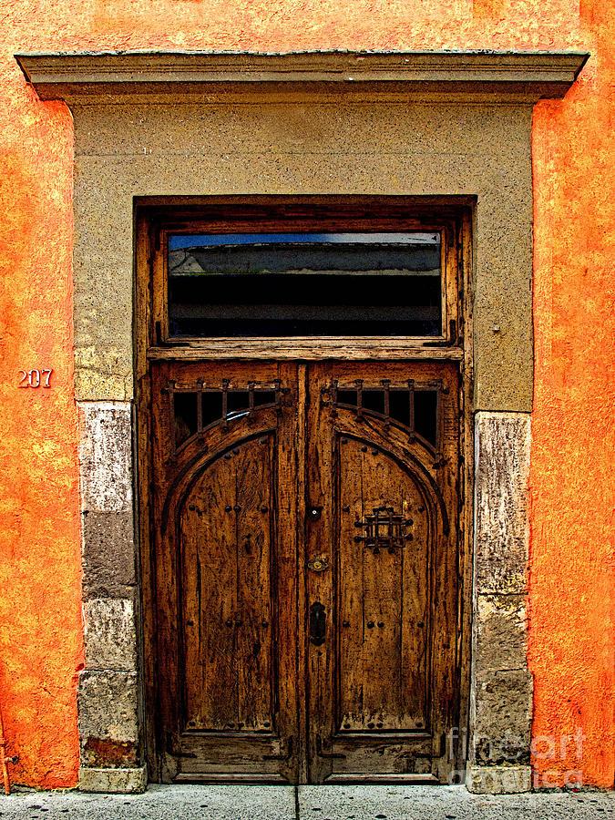 Tlaquepaque Photograph - Door In Terracotta by Mexicolors Art Photography