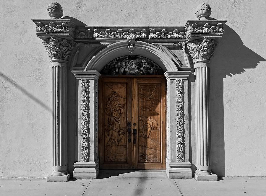 Texas Photograph - Doorway Of The Santa Teresa De Jesus Church by Mountain Dreams