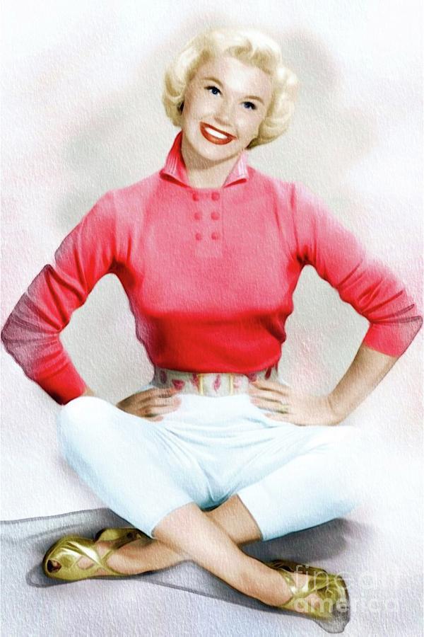 Doris Day, Vintage Actress Painting