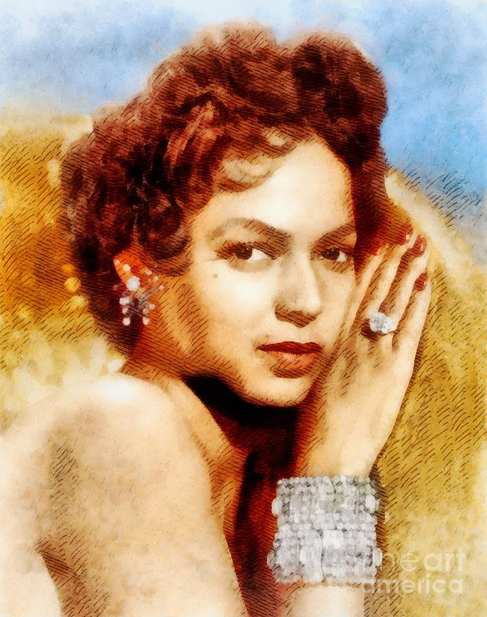 Dorothy Dandridge, Vintage Hollywood Legend Painting