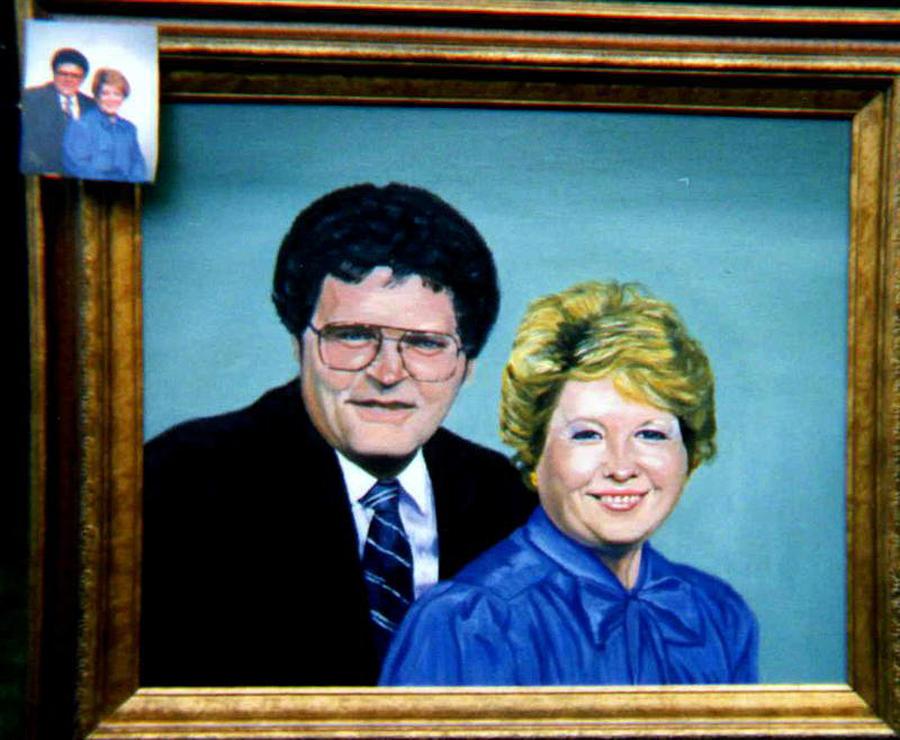 Double Portrait Painting by Stan Hamilton
