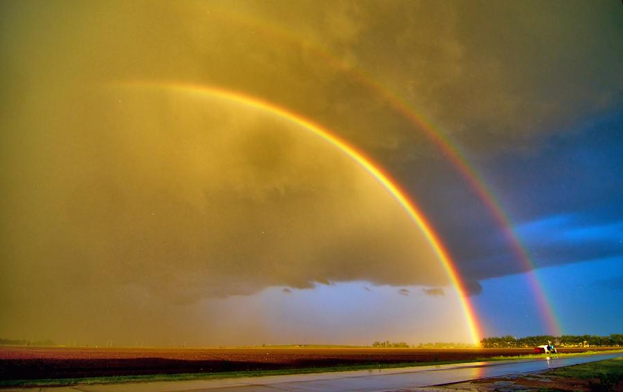 Rainbow Photograph - Double Rainbow by Josephine Buschman