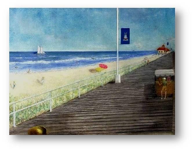 Atlantic City Painting - Down Beach by Brian Higgins