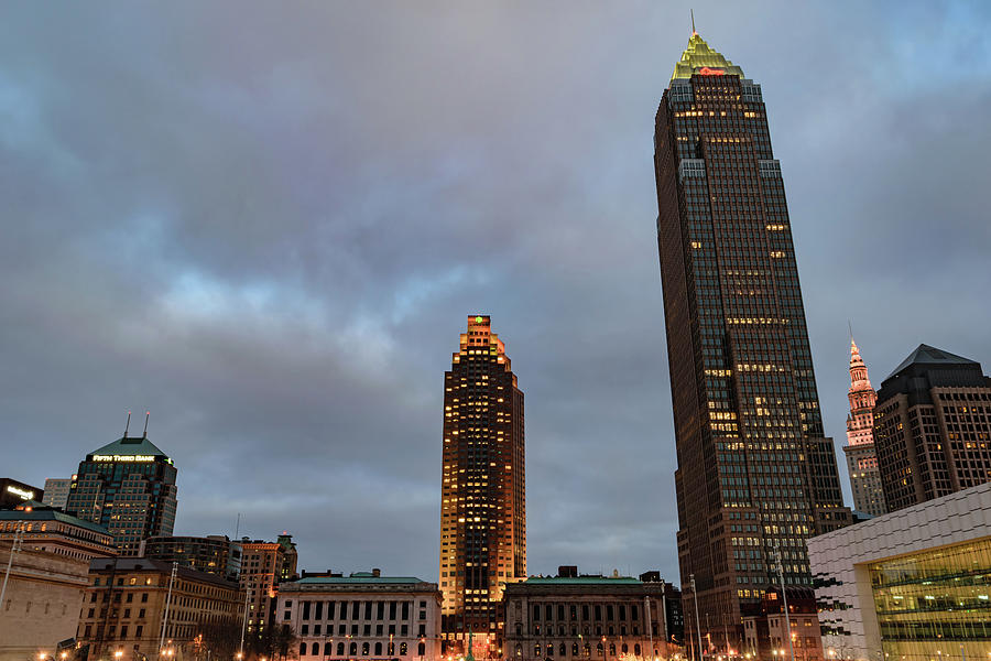 Building Photograph - Downtown Cleveland At Dusk by Cityscape Photography