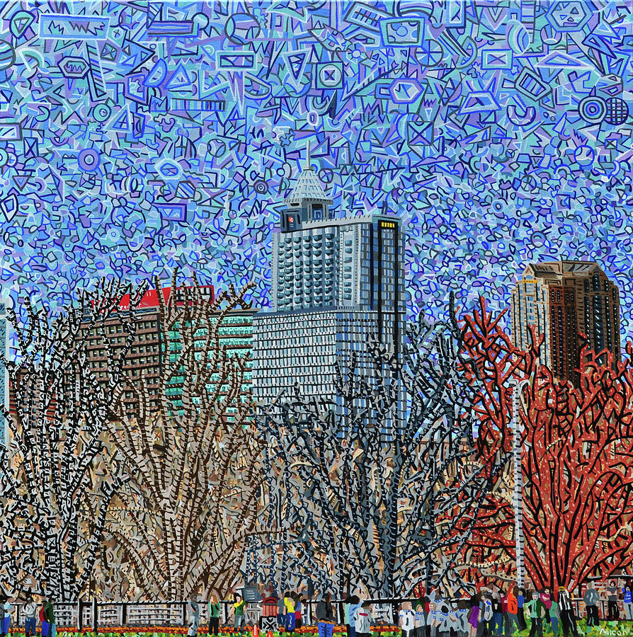 Raleigh Painting - Downtown Raleigh - View From Chavis Park by Micah Mullen