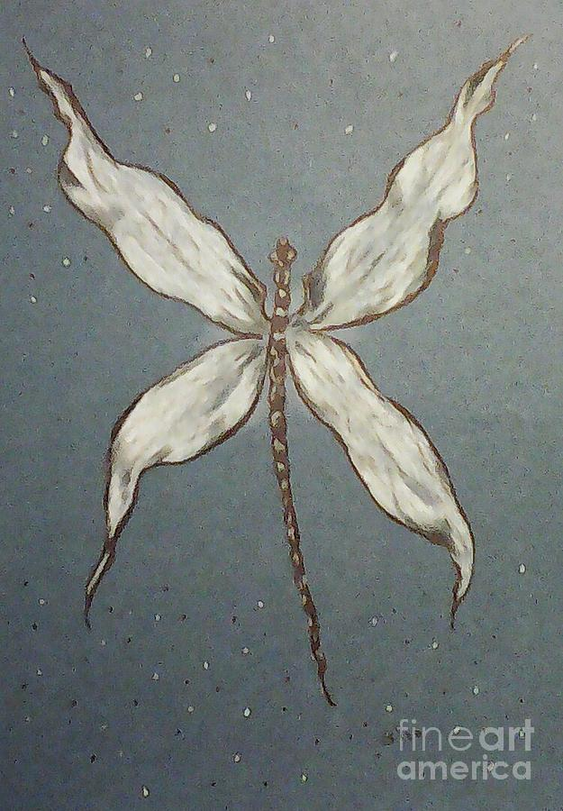 Dragonfly Drawing - Dragonfly by Ginny Youngblood