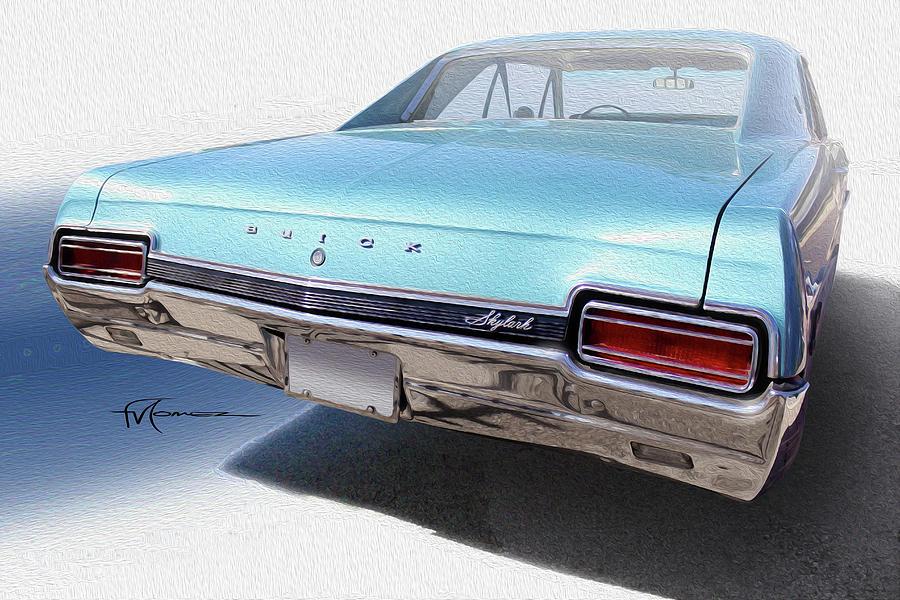 Buick Photograph - Sky Blue Skylark by Felipe Gomez