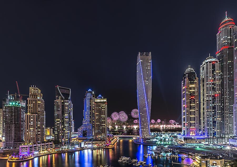 Vinayan Photograph - Dubai Marina by Vinaya Mohan