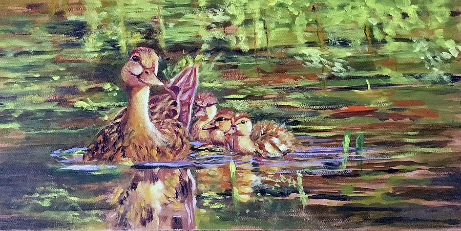 Duck Family by Lynne Atwood