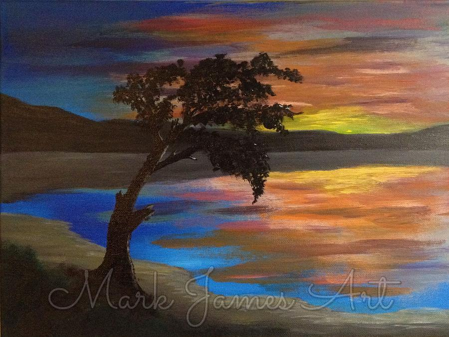 Tree Painting - Dusk by Mark James