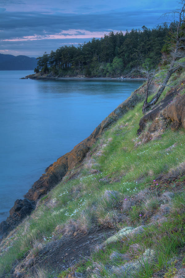 Dusk on fidalgo island photograph by rich leighton for T shirts by design anacortes