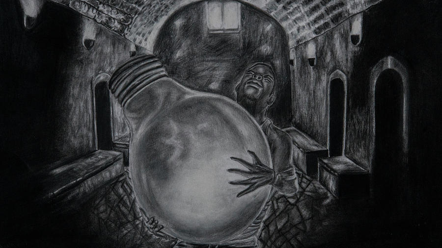 Dying Soul Drawing by Kodjo Somana