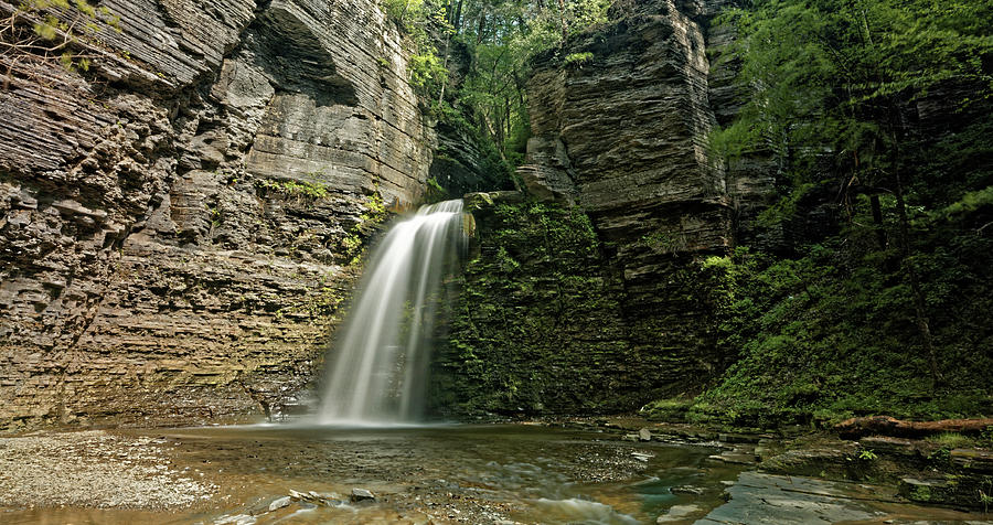 Watkins Glen Photograph - Eagle Cliff Falls by Doolittle Photography and Art