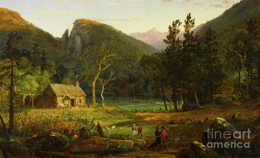 Cropsey Painting - Eagle Cliff, Franconia Notch, New Hampshire by Jasper Francis Cropsey