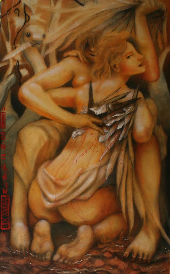 Earthbound Ralph Nixon Jr Painting - Earthbound Lies by Ralph Nixon Jr