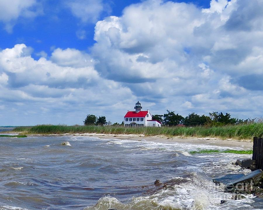 Delaware Bay Photograph - East Point Lighthouse  by Nancy Patterson