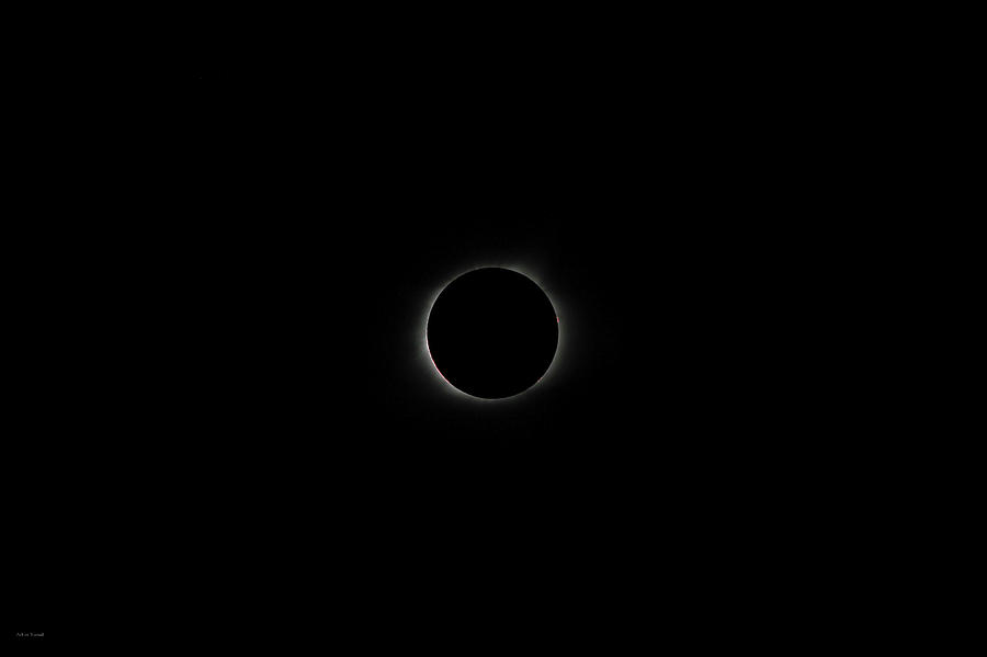 Moon Photograph - Eclipse 2017 by Ross Henton
